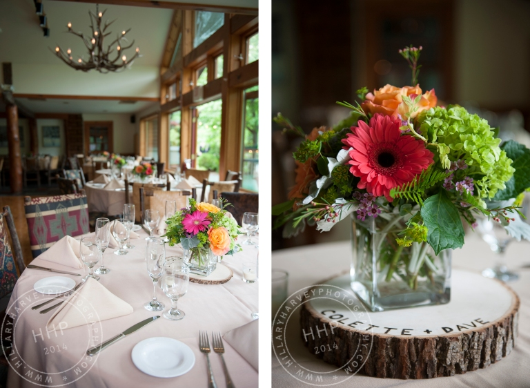 HHP tables and centerpieces