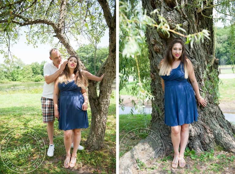 HHP couple and Sara with trees